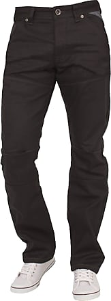 Enzo Jeans Mens Jeans Classic FIT Straight Leg in Black Grey Navy Colours 28 to 48 (46S, EZ329 Black)