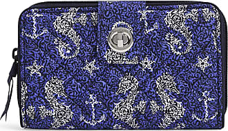 Vera Bradley Womens Iconic Signature Cotton RFID Turnlock Wallet, Seahorse of Course, One Size