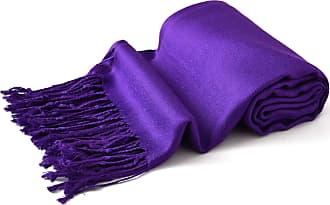 CJ Apparel Purple Solid Colour Design Shawl Scarf Wrap Pashmina Seconds **NEW**(Size: One Size)
