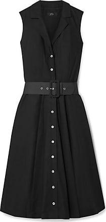 J.crew Rudbeckia Belted Cotton-poplin Dress - Black