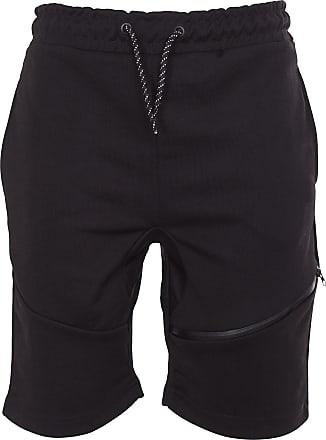 Noroze Mens Thigh Zip Pocket Sports Shorts (M, Black)