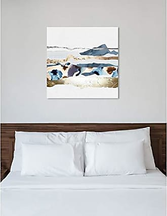 The Oliver Gal Artist Co. The Oliver Gal Artist Co. Abstract Wall Art Canvas Prints Hey Jude Home Décor, 43 x 43, White, Gold