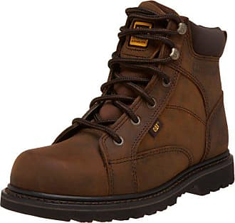 CAT Mens Whiston 6 Lace To Toe Soft Toe Boot,Dark Brown,11.5 W US