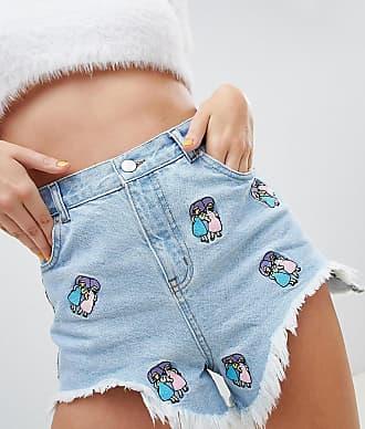 Asos The Simpsons x ASOS DESIGN - Short en jean densemble - Bleu 838dc6acc5e