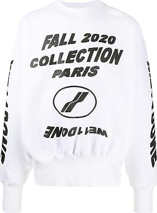 We11done Suéter mangas longas com estampa gráfica - Branco