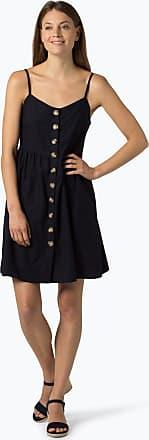 NA-KD Damen Kleid mit Leinen-Anteil blau