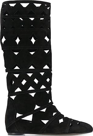 Casadei cut-out summer boots - Black