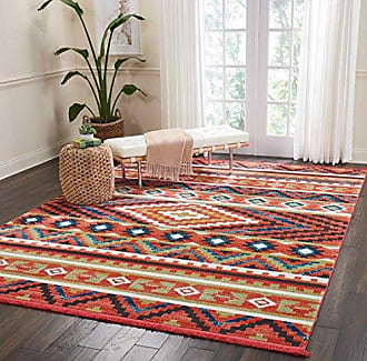 Nourison Tribal Decor TRL04 Traditional Colorful Orange Area Rug 7 Feet 10 Inches by 10 Feet 9 Inches, 710X109