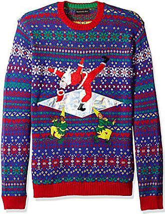 Blizzard Bay Mens Santa Death Drop Ugly Christmas Sweater, Small
