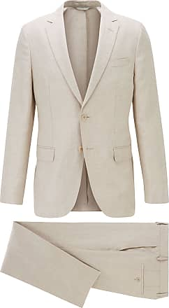 Tan Cotton-Anfred Hugo Boss Hugo Hugo Mens Unlined Slim Fit Suit Jacket