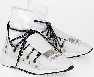 Sergio Rossi Studded Leather Sock Sneakers size 39