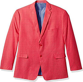 U.S.Polo Association Mens Big and Tall Fancy Cotton Sport Coat, Red Dot Hopsack, 50 Long