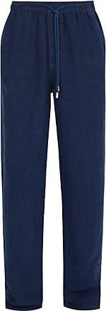 Vilebrequin Linen Trousers - Mens - Navy