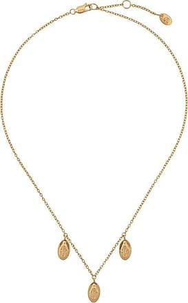 Northskull Colar Three Saints Charm - Dourado
