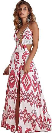 Empress Brasil Vestido Empress Brasil Majorelle Estampa Ikat Pink