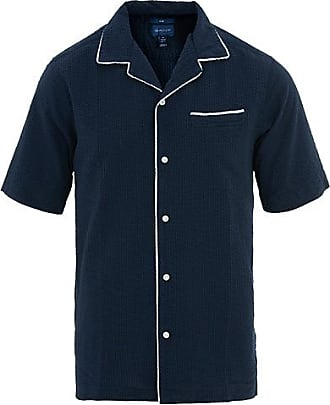 83386ad3c98 GANT Regular Fit Seersucker Riviera Short Sleeve Shirt Blue