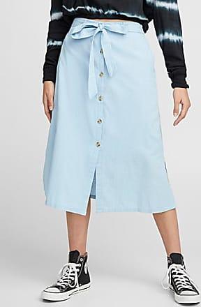 Twik Buttoned linen skirt