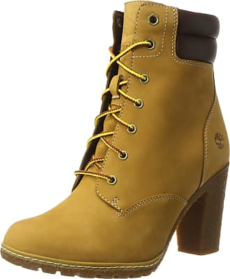 90a7406564 Timberland Womens Tillston 6 Inch Double Collar (Wide fit) Boot, Yellow ( Wheat