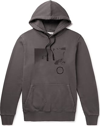 Alyx Printed Fleece-back Cotton-jersey Hoodie - Gray