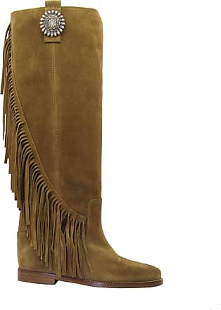 Via Roma 15 Fashion Woman 3260MARTORA Brown Suede Boots | Spring Summer 20