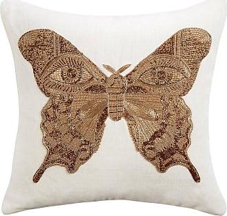 Jonathan Adler Muse Beaded butterfly Pillow