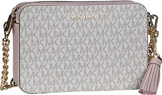 Michael Kors Umhängetasche Jet Set Medium Camera Bag MK Signature Vanilla/Soft Pink