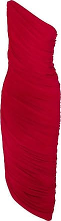 Norma Kamali Diana One-shoulder Ruched Stretch-jersey Dress - Red