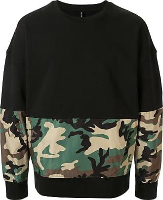 Blackbarrett Blusa de moletom camuflada - Preto
