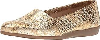 Aerosoles Womens Trend Setter Slip-On Loafer, Gold Snake, 8 M US