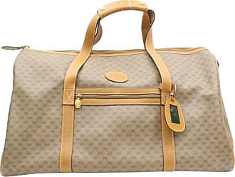 b8c61dca308 Gucci Boston Micro Gg Duffle 869746 Brown Coated Canvas Weekend travel Bag