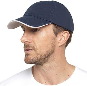 Tom Franks Mens Cotton Cap with Adjustable Strap Blue