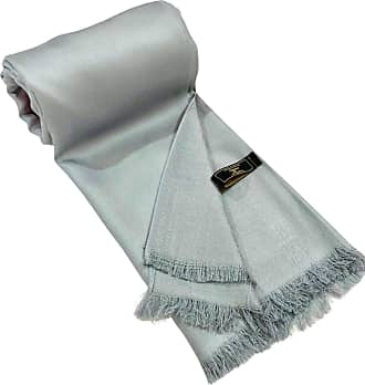 CJ Apparel Blue Grey Fringe Solid Colour Design Shawl Scarf Wrap Stole Throw Pashmina Pashminas CJ Apparel NEW