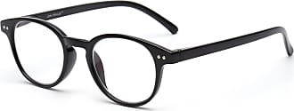 JIM HALO Anti Blue Light Retro Spring Hinge Round Computer Reading Glasses Gaming Readers Reduce Eye Fatigue +1.75 Shiny Black
