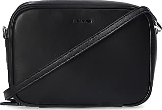 Jil Sander Shoulder Bag With Logo Womens Black