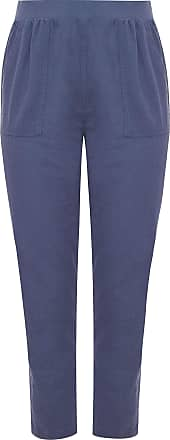 Yours Clothing Clothing Womens Plus Size Tapered Trousers Size 34-36 Blue