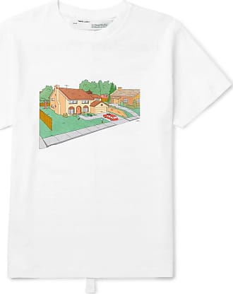 0c3eb112 Off-white Simpsons House Slim-fit Printed Cotton-jersey T-shirt -