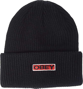Obey Mens Movement Knit Beanie Hat, Black, One Size