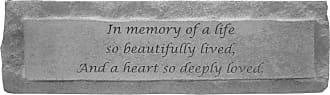 Kay Berry In Memory Of 3 Light Candleholder Memorial Stone - 05330