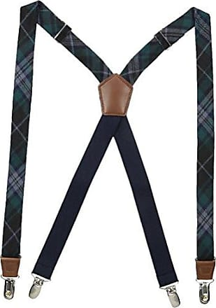 Dockers Mens 1 Inch Plaid Suspenders, blue, One Size