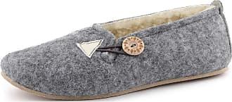 Ladeheid Women´s Felt Shoes Slippers Flipflops LABR531 (Grey, 6 UK)