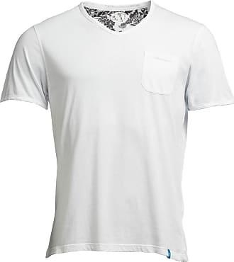 Panareha T-shirt scollo a V MOJITO bianco