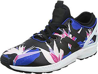 brand new 617bf 3a540 adidas Damen ZX Flux NPS Sneakers Schwarz (Core BlackBold BlueYellow)