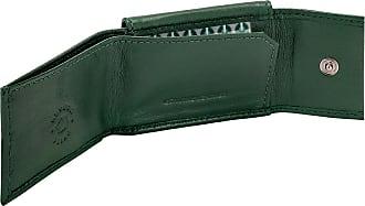 Nuvola Pelle Mini Portafoglio Uomo con Portamonete in Pelle da Giacca Slim Tascabile Minimalista Verde