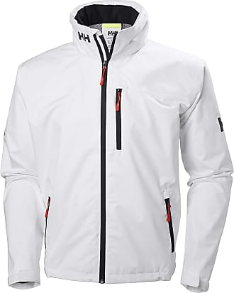 Helly Hansen Mens Crew Hooded Jacke Jacket, White, Xx-Large