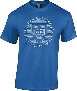 Oxford University Official Distressed Crest T-Shirt - Royal Blue - Large
