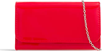 LeahWard Womens Patent Flap Clutch Bag Purses Party Evening Bags Handbag 250 (Red 2223)