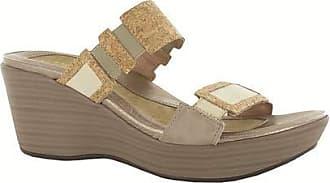 4c3b5ecbdc95 Naot Naot Footwear Womens Wedge Sandal Treasure Cork Lthr Gold Threads Lthr  - 42 M