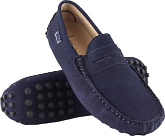 Zerimar Mocassins Men | Men Loafers Shoes Casual | Leather Mocassins Mens | Shoes Moccasins Mens Loafers | Mens Loafers Navy Blue