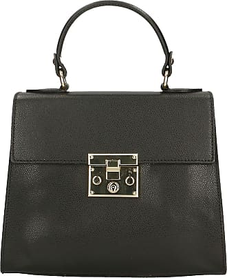 Chicca Borse Aren - Woman Handbag in Genuine Leather Made in Italy - 25x20x10 Cm