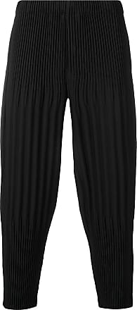 Homme Plissé Issey Miyake pleated drropped crotch trousers - Black